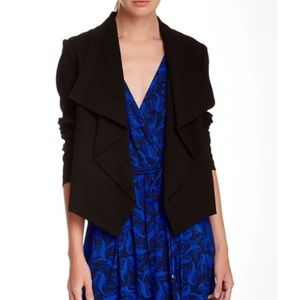 Diane Von Furstenberg Olympia Drape Front Jacket